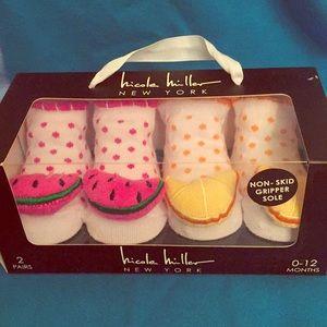 🆕 Nicole Miller Baby Sock Set, 2 Pairs